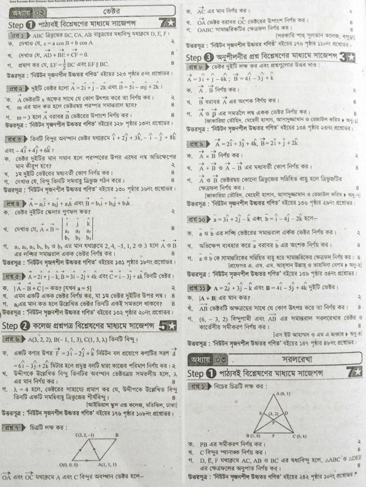hsc Mathematics 1st Paper suggestion, exam question paper, model question, mcq question, question pattern, preparation for dhaka board, all boards