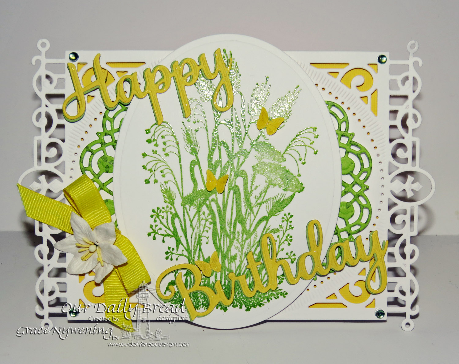 Stamps - Our Daily Bread Designs Miss You, ODBD Custom Doily Die, ODBD Custom Happy Birthday Dies