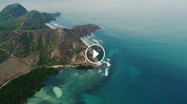Surf trip Limestone West Sumbawa Indonesia Dji phontom4 pro
