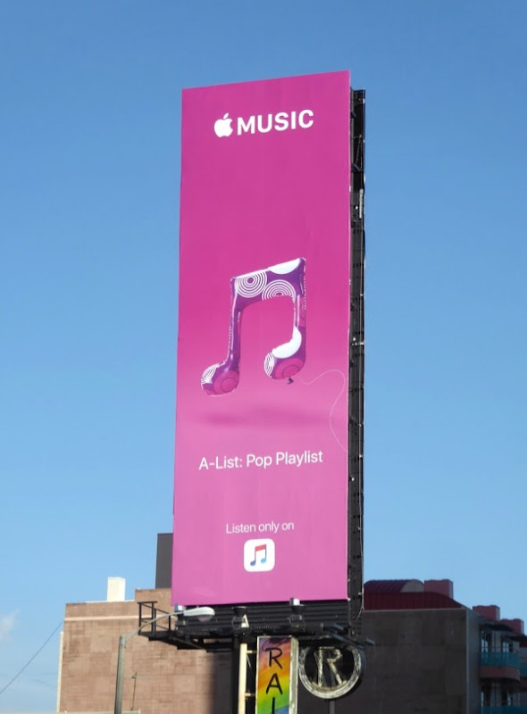 Apple Music A-List billboard