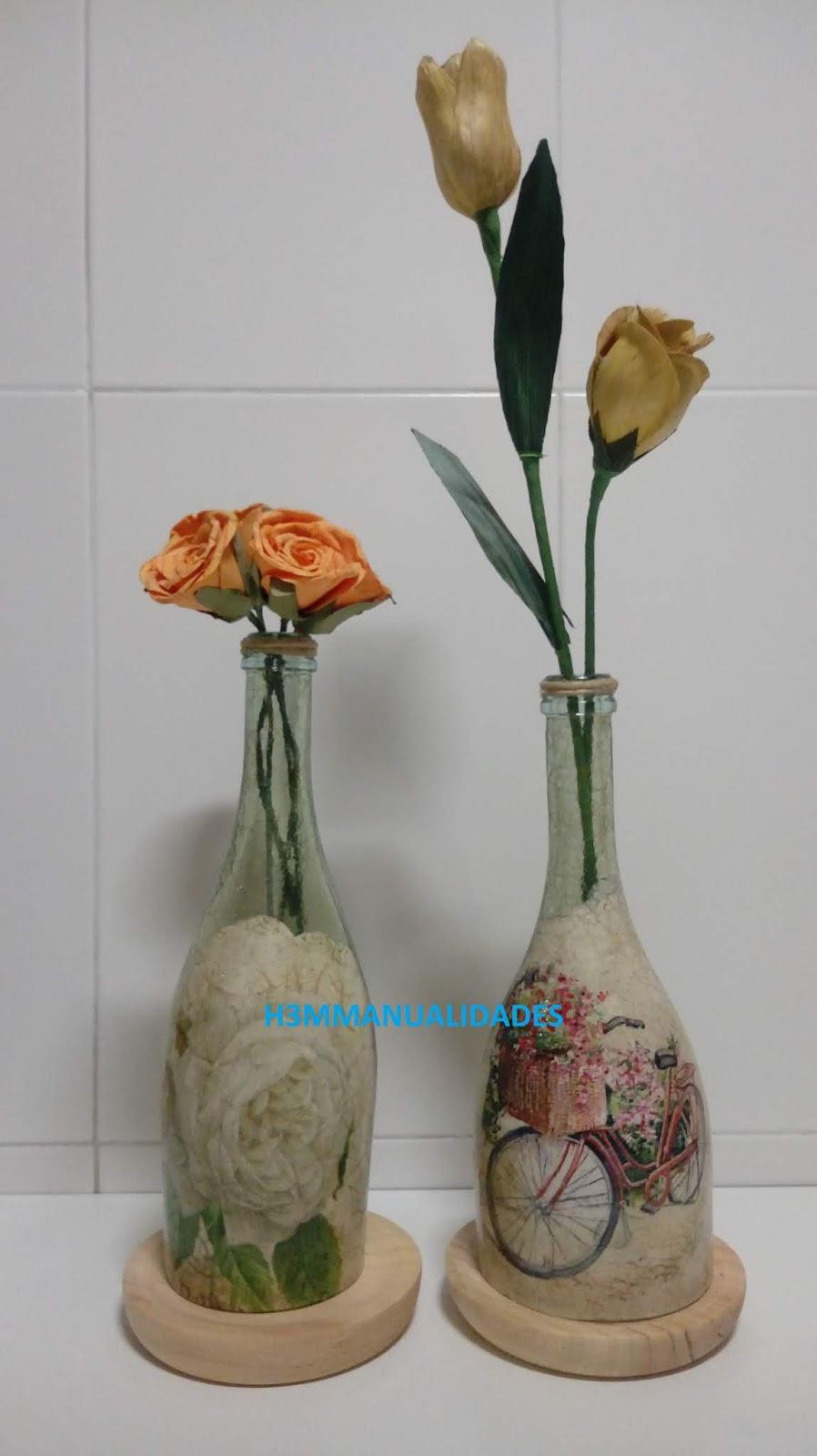 H3m Manualidades Botellas De Cristal Cortadas Y Decoradas