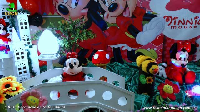 Decoração de aniversário tema da Minnie - Mesa temática