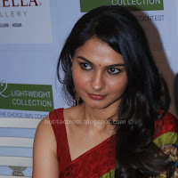 Andrea jeremiah latest saree pics