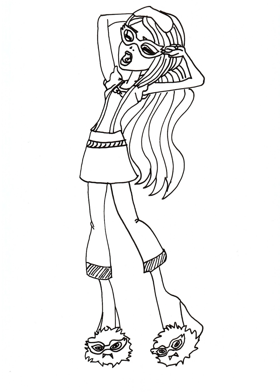 Free Printable Monster High Coloring Pages: Ghoulia Dead