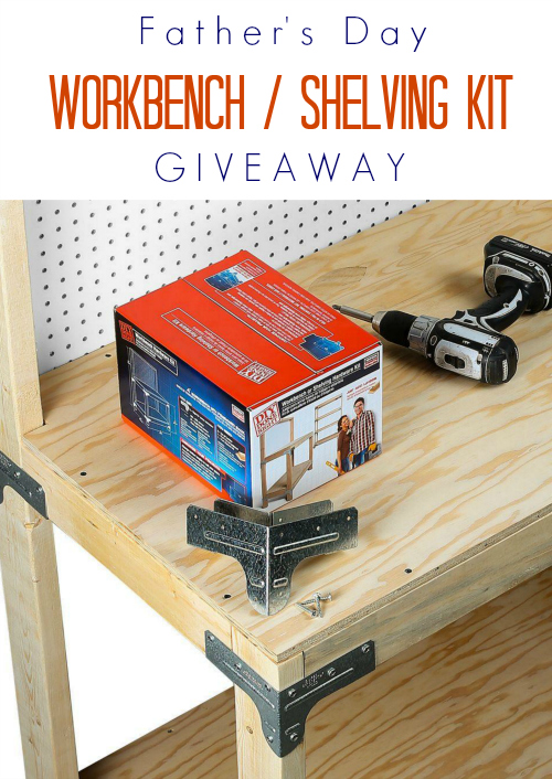 Giveaway for chances to win a Simpson Strong-Tie® Workbench or Shelving Kit.