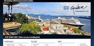 Capture d'écran du site Bonjour Québer