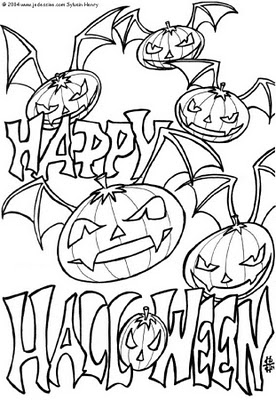 halloween free coloring pages | transmissionpress: Printable Halloween Coloring Pages