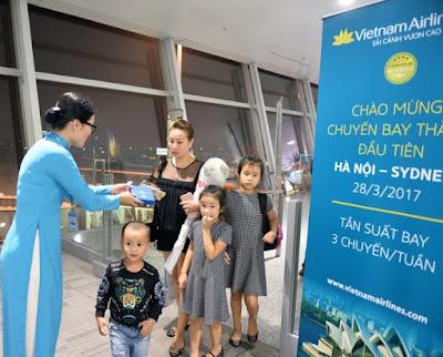 Thông qua đường bay thẳng hơn 9 tiếng không điểm dừng, Vietnam Airlines đã nâng tổng số chuyến bay khai thác đến Úc lên 17 chuyến/tuần, tạo điều kiện cho việc đi lại giữa 2 quốc gia Việt Nam và Úc dễ dàng và thuận tiện hơn