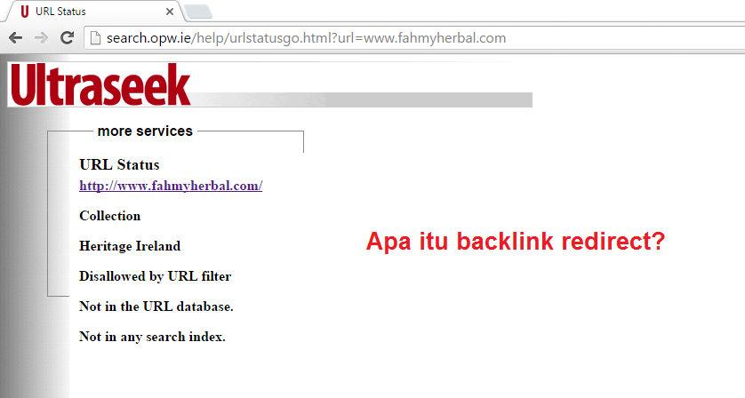 Apa itu backlink redirect?