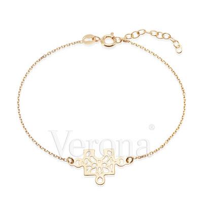 pozłacana bransoletka Verona puzzle biżuteria na Walentynki prezent