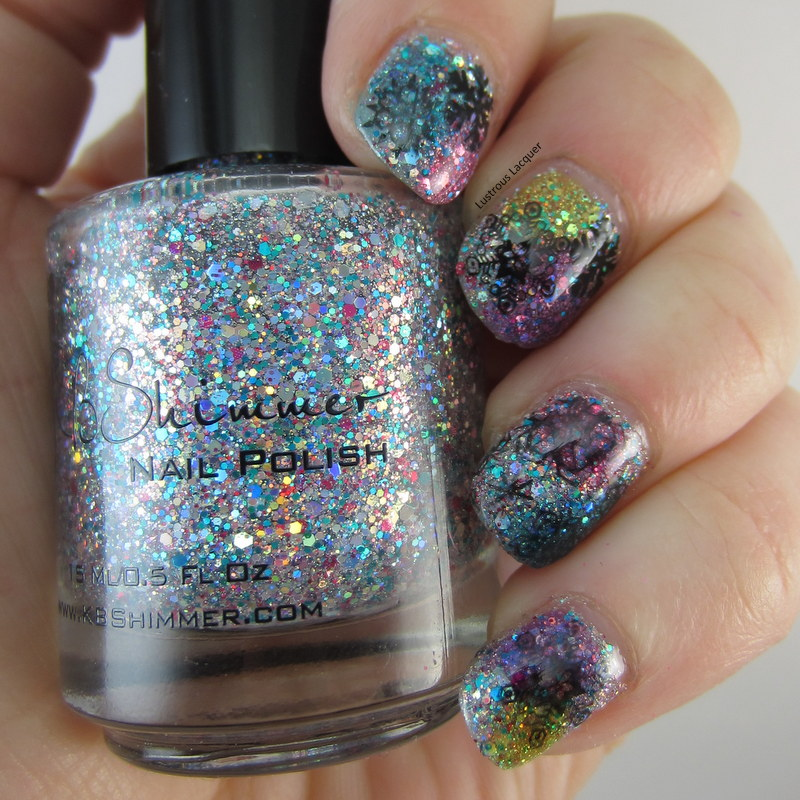 Snow-Flake-Manicure-with-glitter