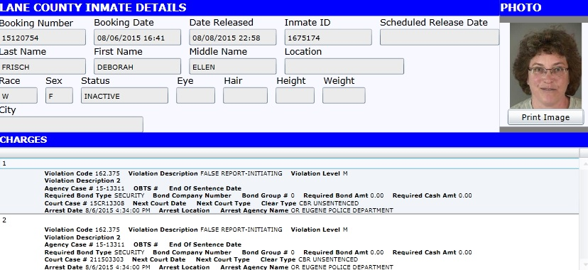 Deborah Frisch has a criminal record