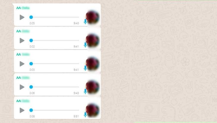 Notas de voz encadenadas en WhatsApp Web