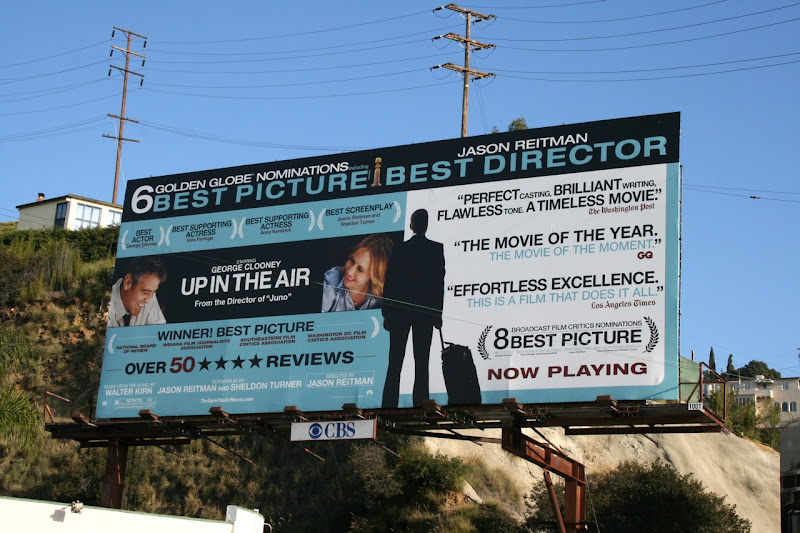 Up in the Air Golden Globes billboard