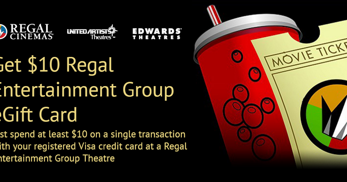Free 10 Regal Cinemas Gift Card When You Spend 10 At Regal Cinemas