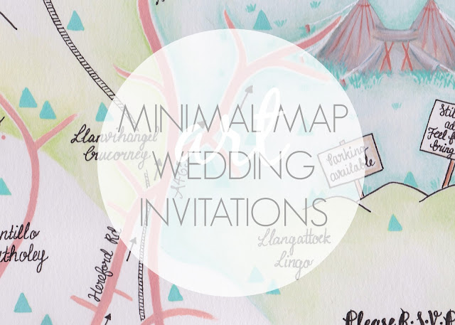 Minimal Map Wedding Invitations Header