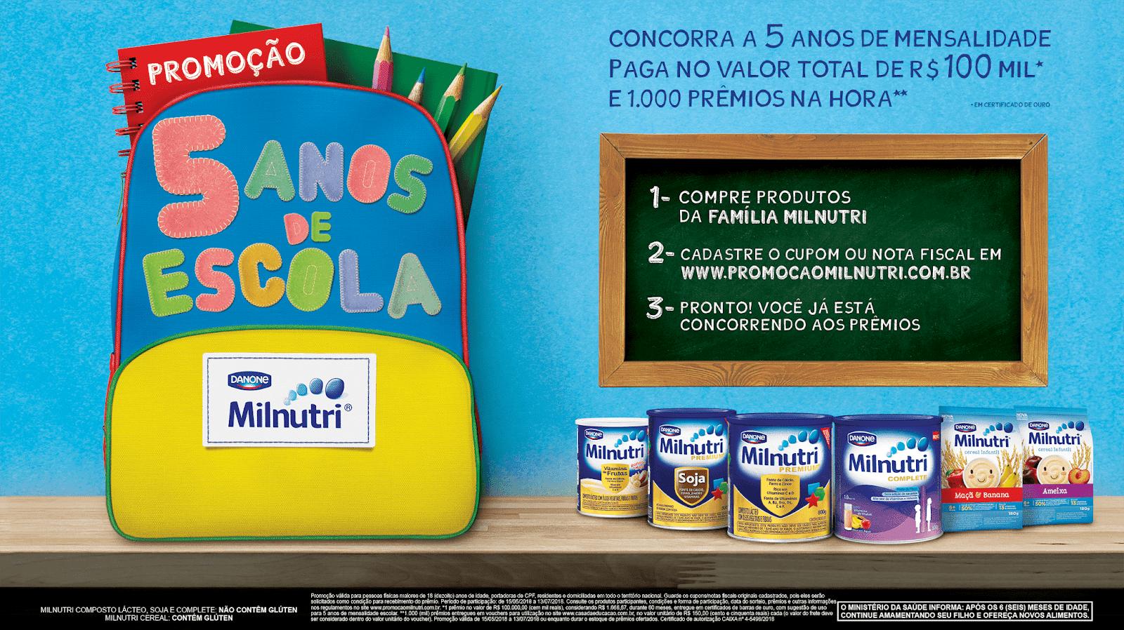 Promoção Milnutri 2018 - Concorra a 5 anos de mensalidade escolar ... 7b3762550c