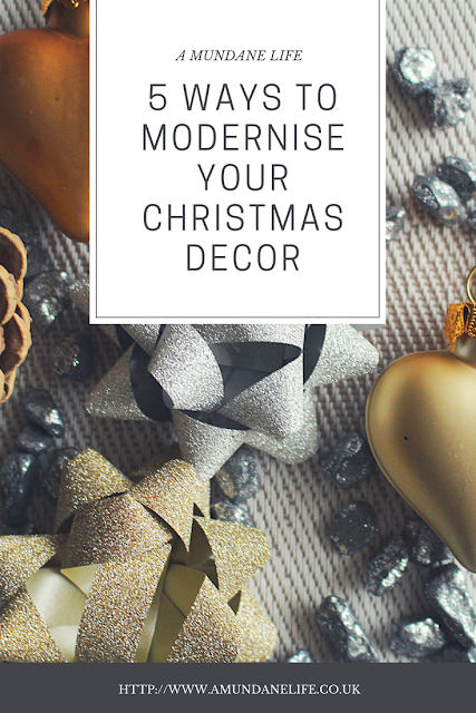 a pin image for pinterest. It shows the blog post title with christmas decorations in the background.