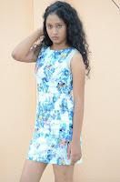 Actress Priyankha Stills in Floral Short Dress at Golmal Gullu Movie Pressmeet 0186.JPG