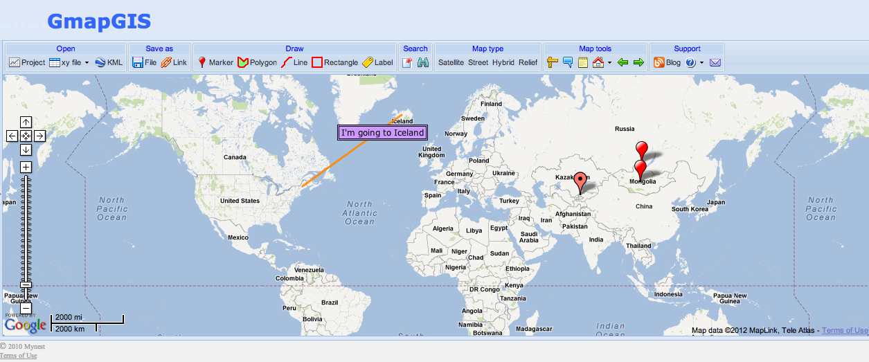 Free Technology for Teachers: Try GmapGIS to Draw on Google Maps on
