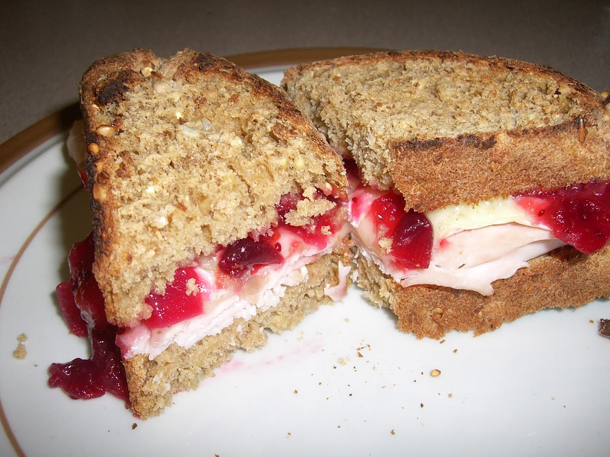 Turkey, Cranberry, Brie Sandwich: proof that work is worth it