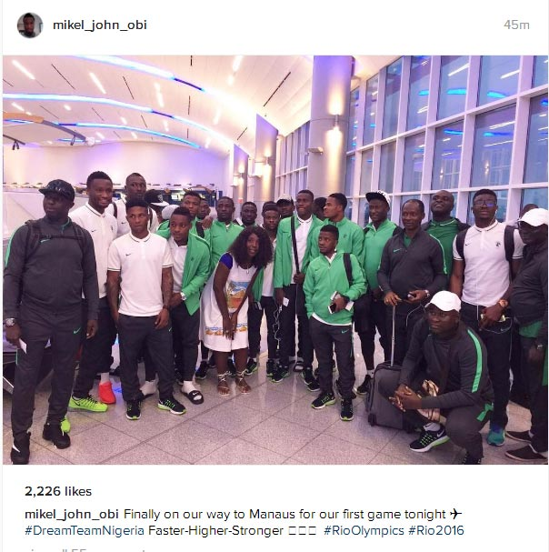 Nigeria U-23 Dream Team Eagles finally leave USA for Brazil Olympics