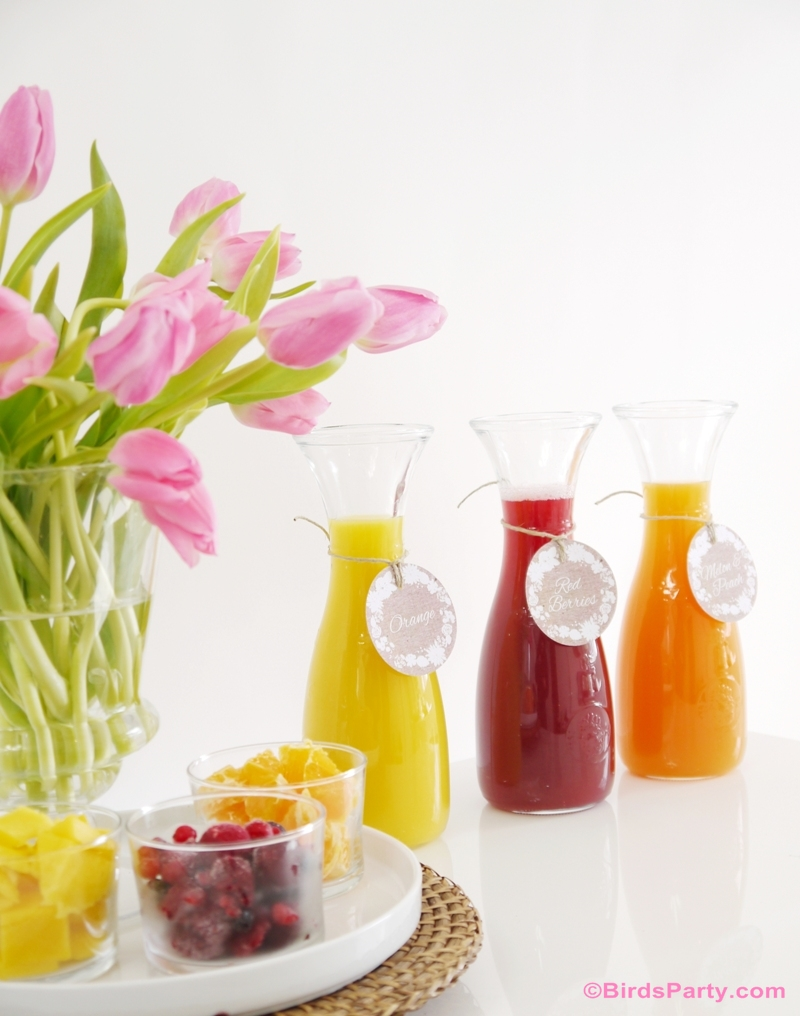 Styling a DIY Mimosa Bar with Free Printables