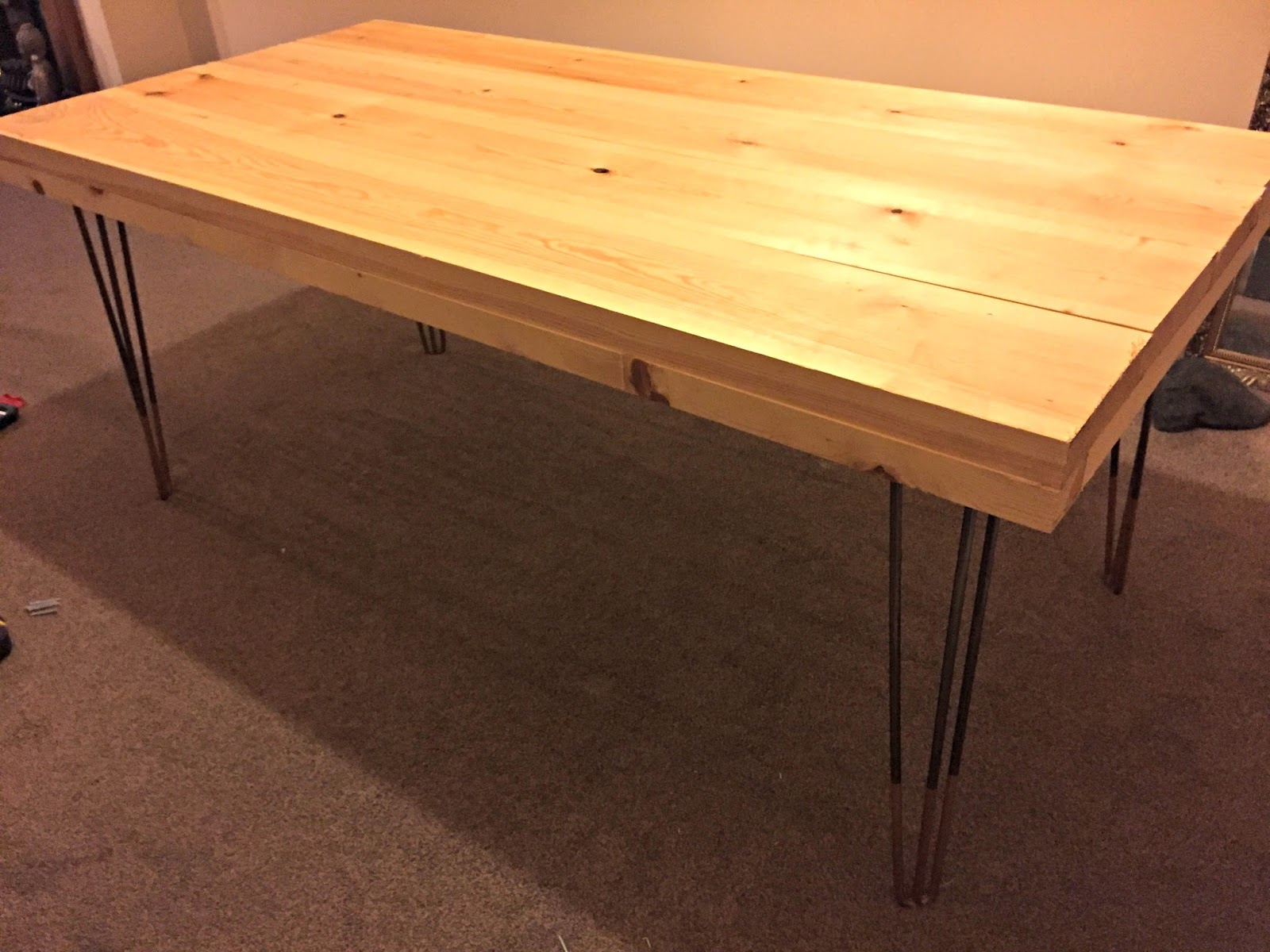 DIY Tutorial - Rustic Dining Table with Hairpin Legs | Tea ...