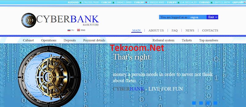 [SCAM][Cyber-Bank.Org][15/10/2016] HYIP - PAY - Lãi 0.8% - 2.2% hằng ngày cho 14-50 ngày - Min Dep 0.001 BTC - Min Pay 0.0001 BTC - Thanh toán Instant - Hoàn vốn đầu tư