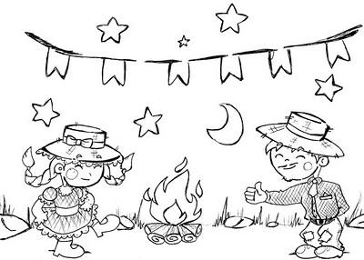 Desenhos Para Pintar Festa Junina