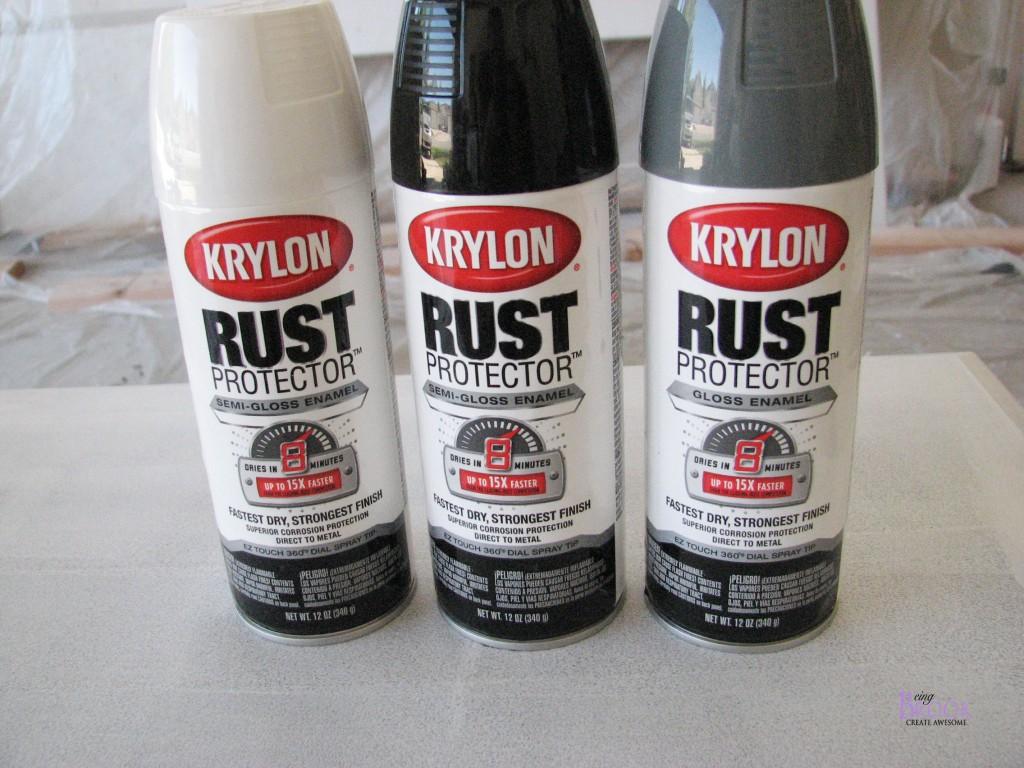Spray Painting A Metal Railing Krylon Rust Protector