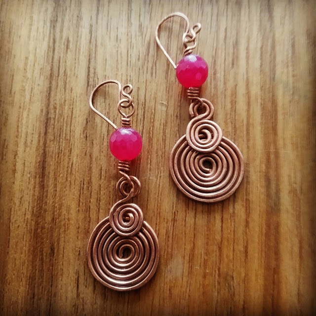 Copper Wire Ear Rings, Copper Jewelry India