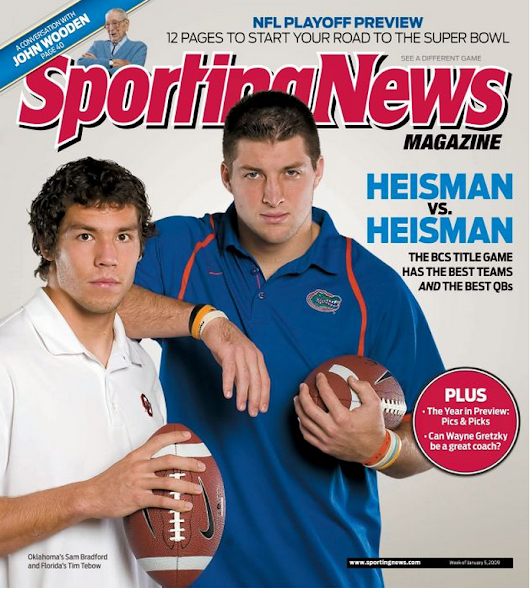 My 2010 NFL Draft cover - Sam Bradford and Tim Tebow