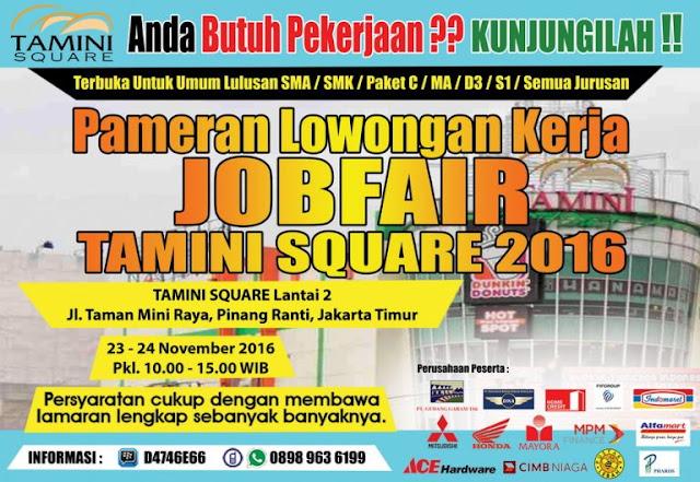 Job Fair Jakarta Timur - Tamini Square 2016