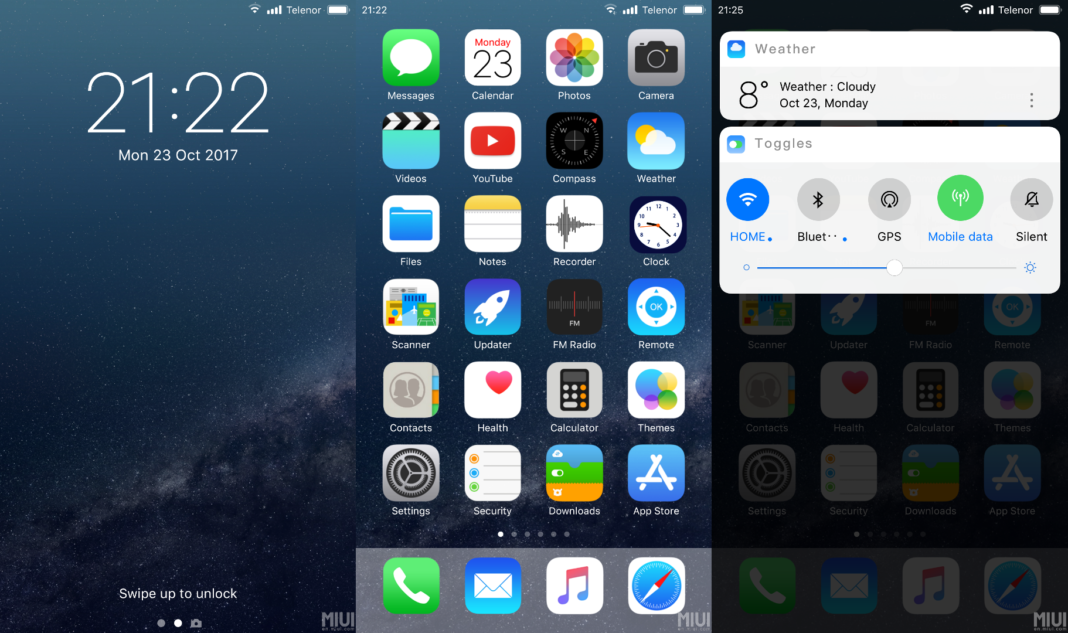 iOS 12 real theme for miui 9 & 10 - SayanTechS1