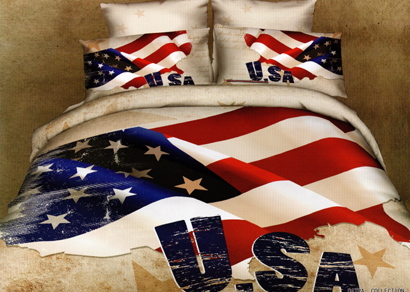 Sprei Satin Jepang Motif Bendera Amerika