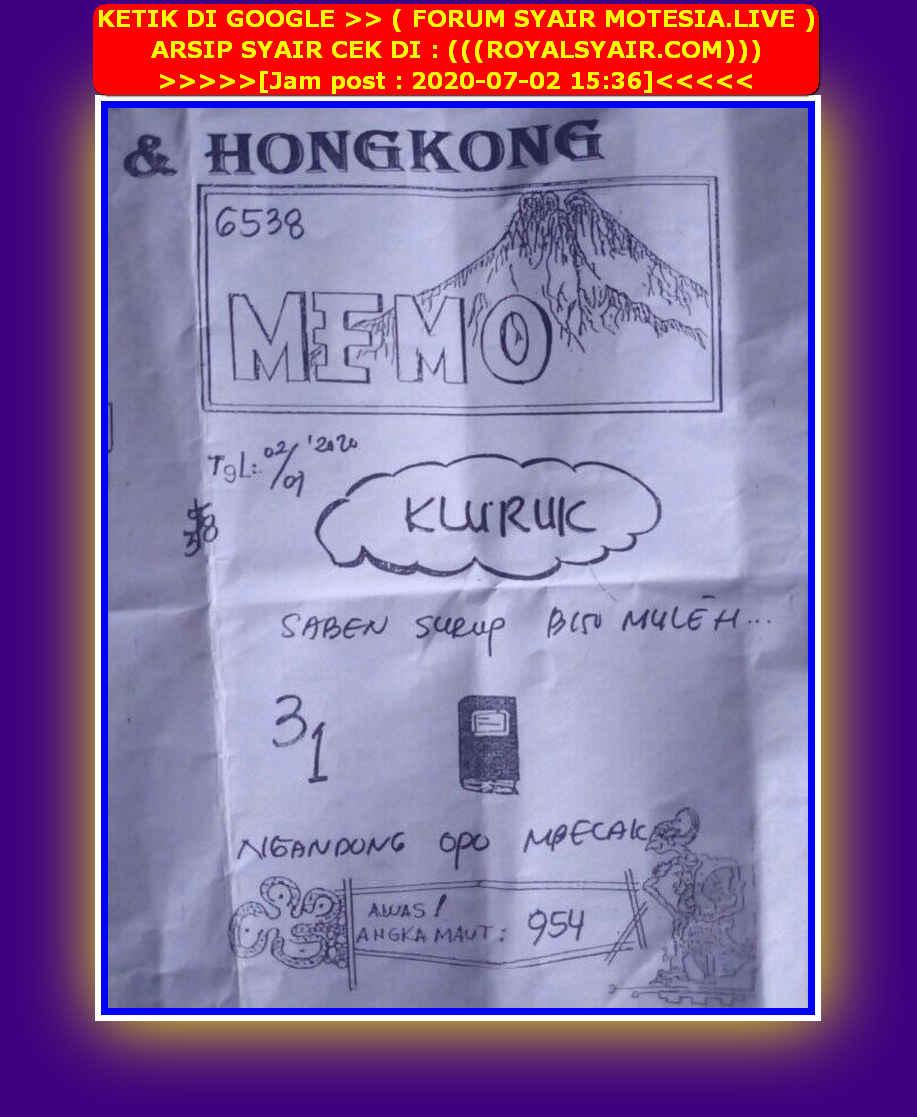 Kode syair Hongkong Kamis 2 Juli 2020 53