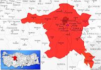 Kahramankazan ilçesinin nerede olduğunu gösteren harita