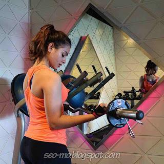 Foto Sahila Hisyam ketika berolah raga