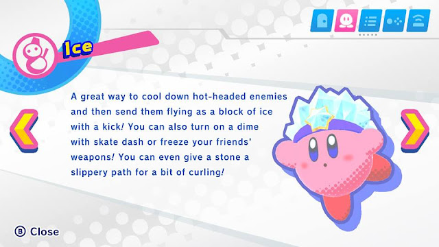 Kirby Star Allies Ice Kirby Copy Ability description