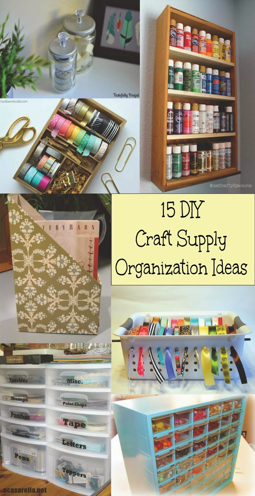 15 diy craft supply organization ideas home crafts by ali for Diy organization crafts