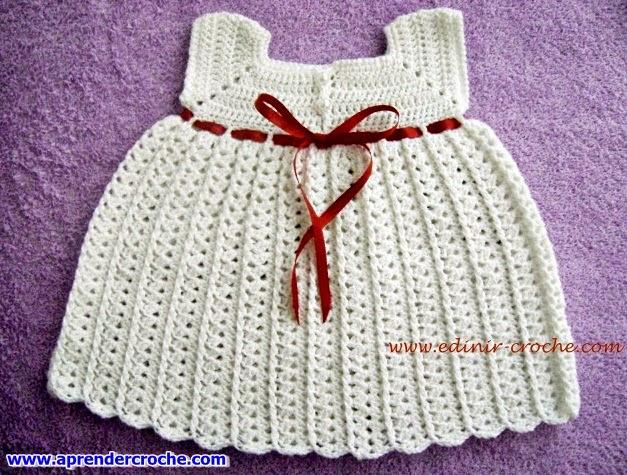 edinir ensina vestido de croche