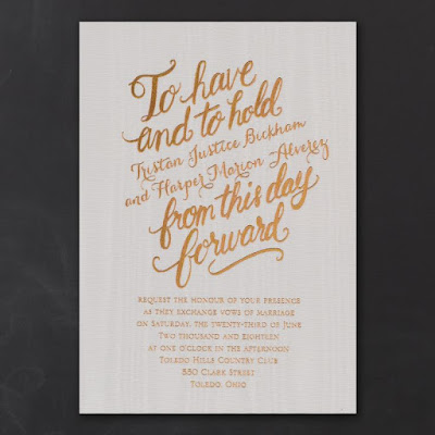 2016 Wedding Invitation Trends - Angled Text