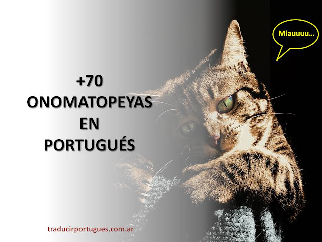 onomatopeyas, onomatopeias, portugués, español, traductor, traductora, traducciones