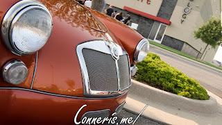 Copper MG MGA Front Grille Angle