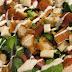 Ensalada de verduras, pollo y ranch