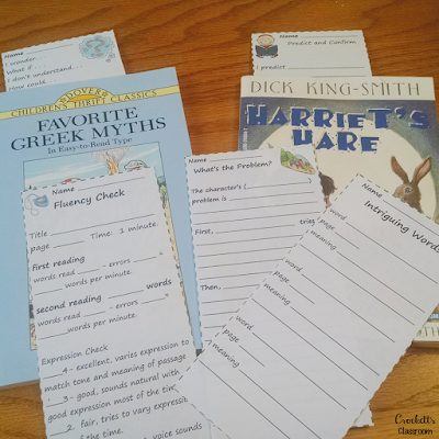 Reading Thinkmarks ---free sample.  Great way to hold kids accountable and have them show their thinking as they read.