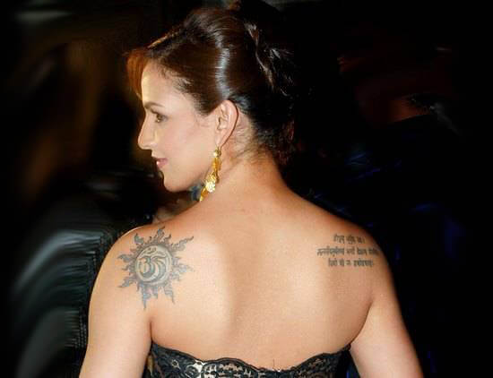 Esha deol tattoo photo