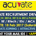 Acuvate Recruitment Drive (Walkin) | 2014 2015 2016 Batch | BE / BTech / BSc / MCA | 18 Feb 2017 | Bengaluru