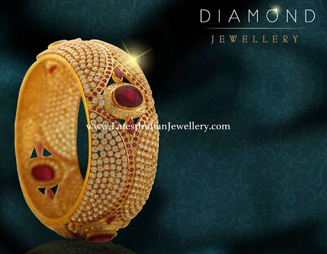 Grand Diamond Ruby Bangle